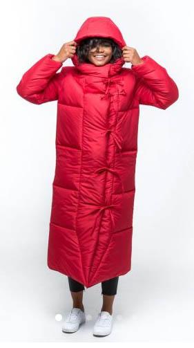 пуховик одеяло красный