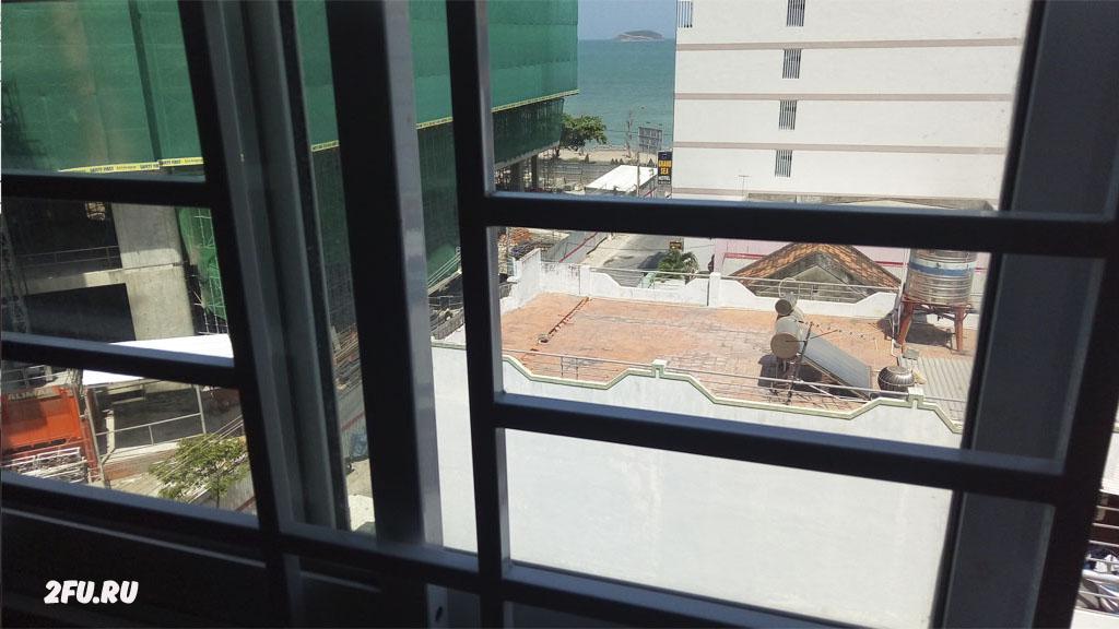 вид из окна отель bella